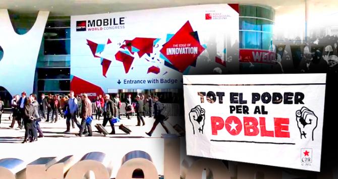 CDR convoca escraches para el Mobile de Barcelona al que acudirá el Rey