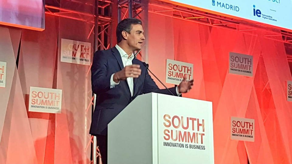 El presidente del Gobierno, Pedro Sánchez, en el South Summit. Foto: @south_summit